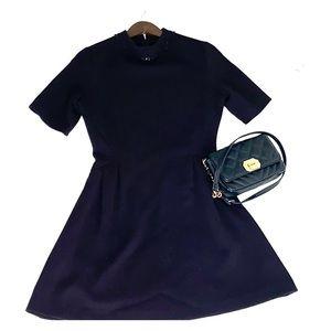 Zara mini dress with detailed collar